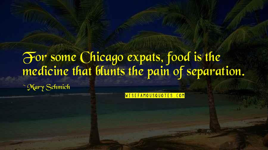 Envisaged Quotes By Mary Schmich: For some Chicago expats, food is the medicine