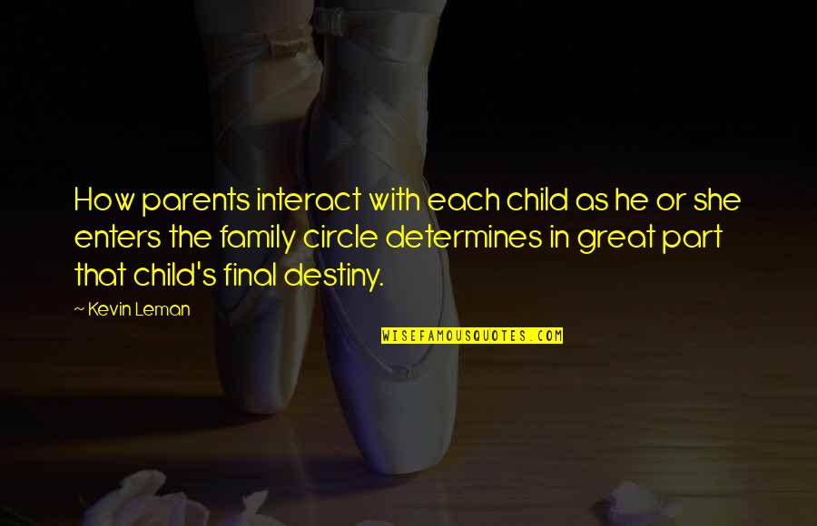 Ephemeralization Quotes By Kevin Leman: How parents interact with each child as he