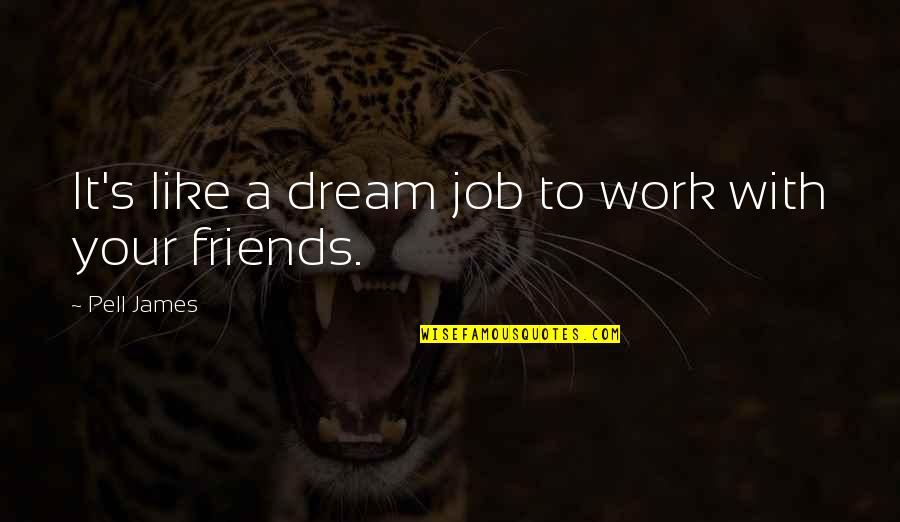 Epigrammatist Quotes By Pell James: It's like a dream job to work with