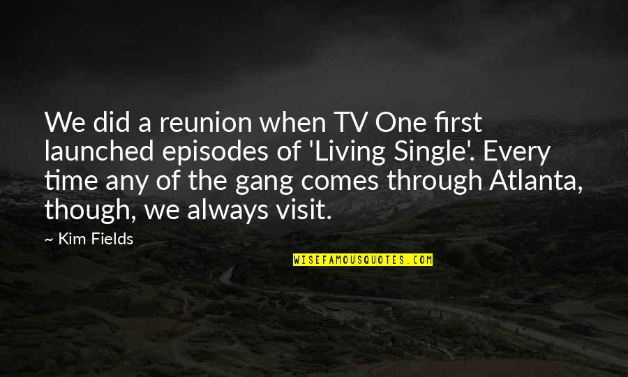 Episodes Quotes By Kim Fields: We did a reunion when TV One first