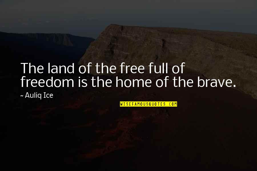Equality And Peace Quotes By Auliq Ice: The land of the free full of freedom