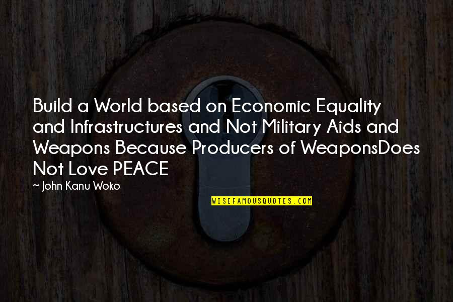 Equality And Peace Quotes By John Kanu Woko: Build a World based on Economic Equality and