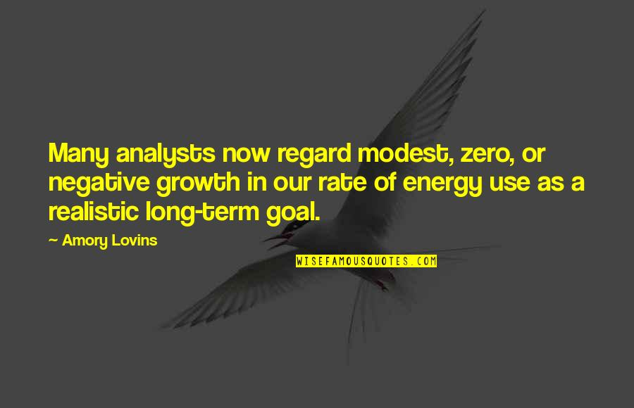 Equilibrium Love Quotes By Amory Lovins: Many analysts now regard modest, zero, or negative