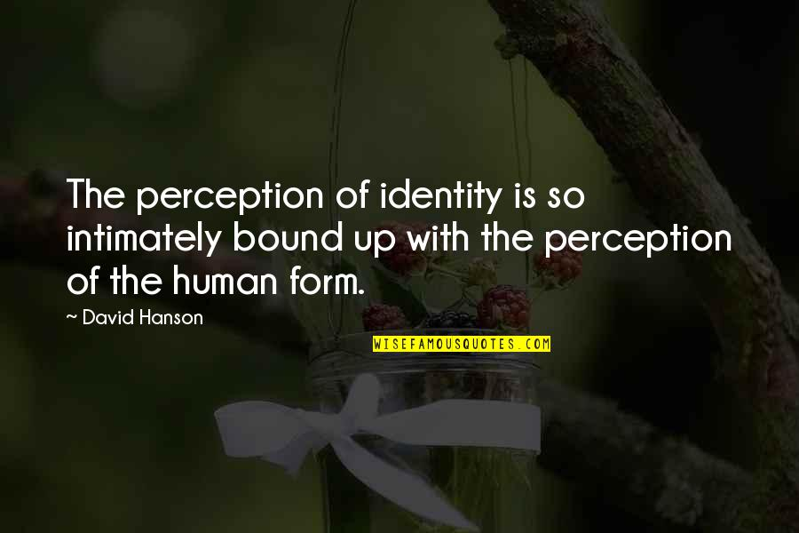 Erap Famous Quotes By David Hanson: The perception of identity is so intimately bound