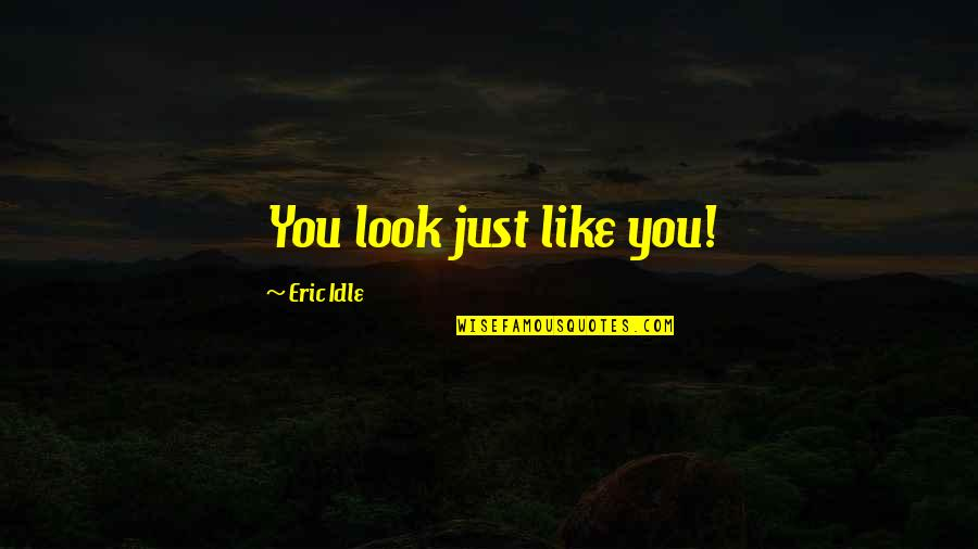 Eric Idle Quotes By Eric Idle: You look just like you!