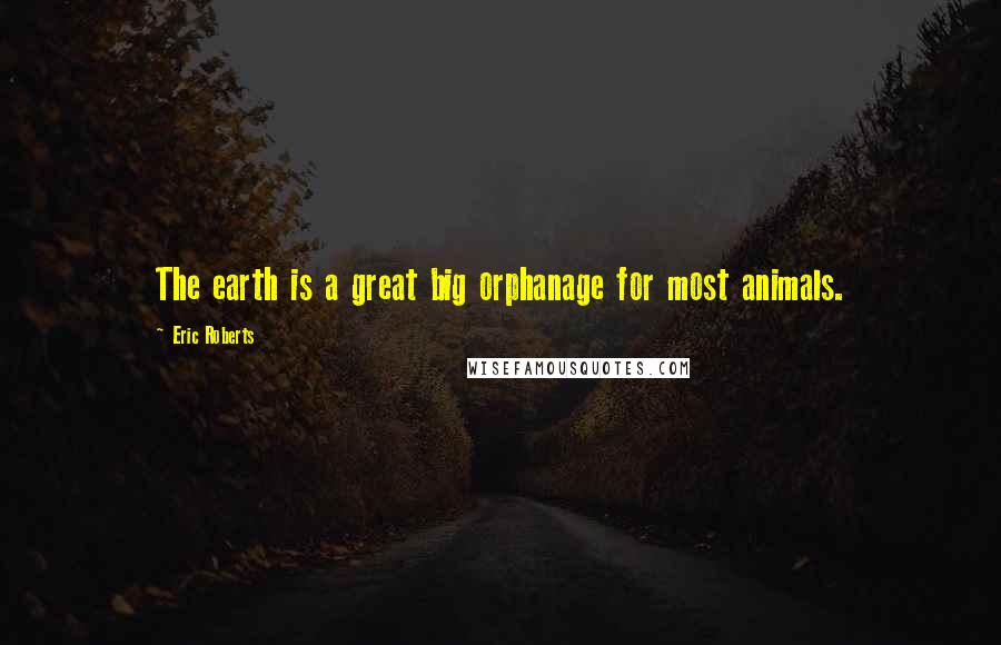 Eric Roberts quotes: The earth is a great big orphanage for most animals.