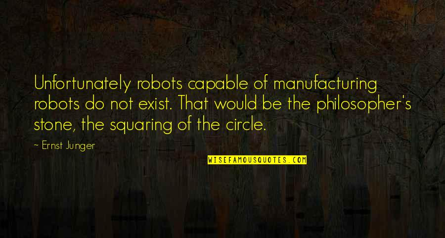 Ernst Junger Quotes By Ernst Junger: Unfortunately robots capable of manufacturing robots do not