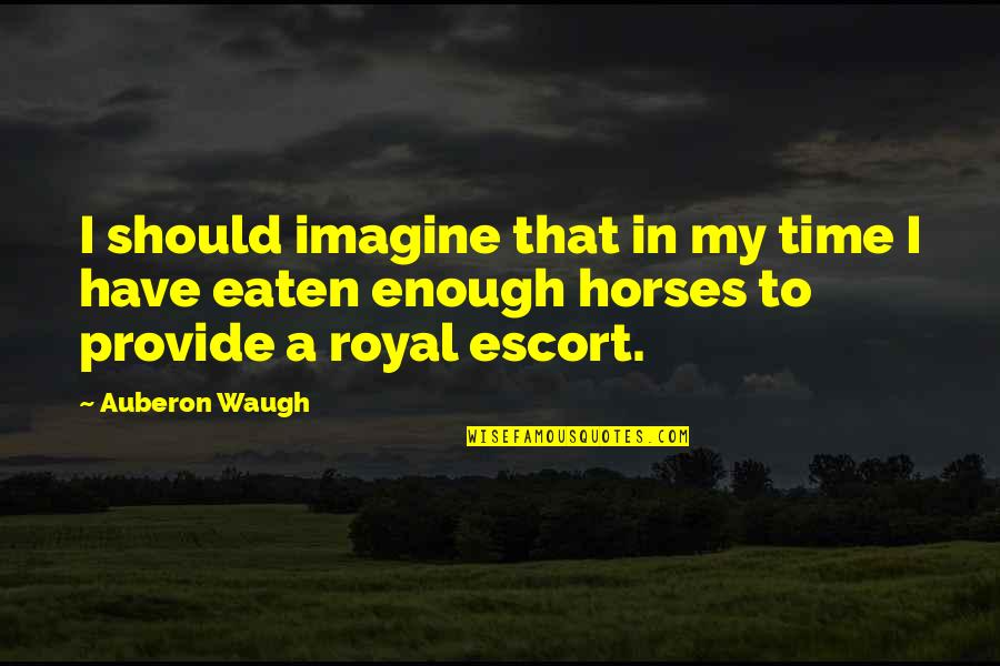 Escort Quotes By Auberon Waugh: I should imagine that in my time I