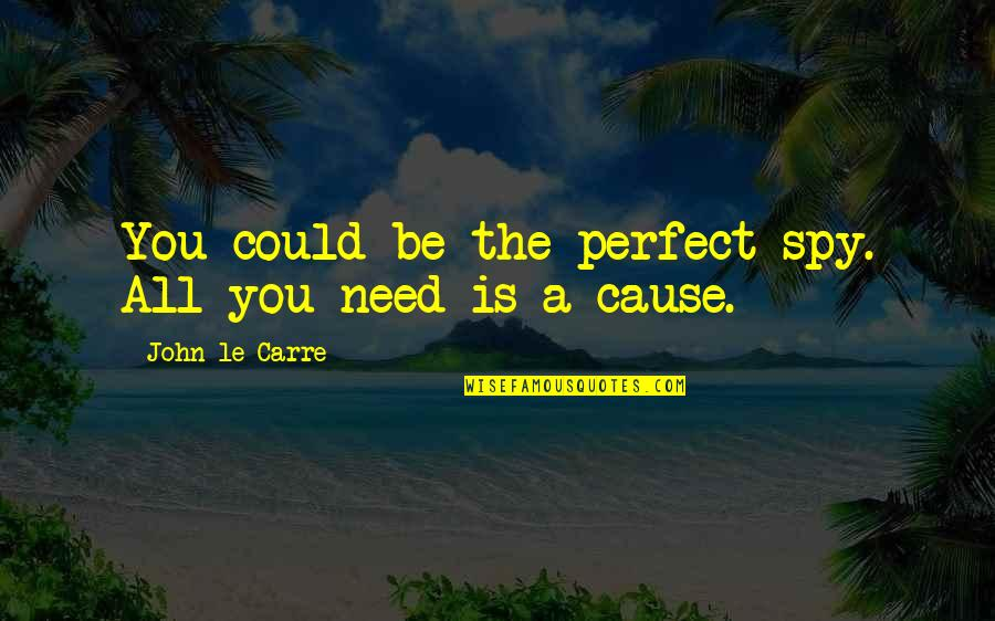 Espionage Quotes By John Le Carre: You could be the perfect spy. All you