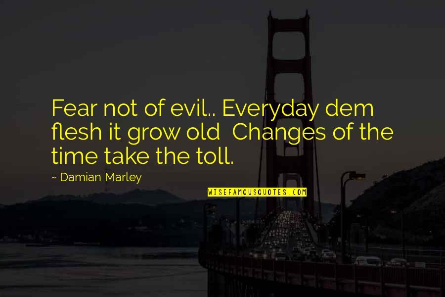 Estabilizar Quotes By Damian Marley: Fear not of evil.. Everyday dem flesh it