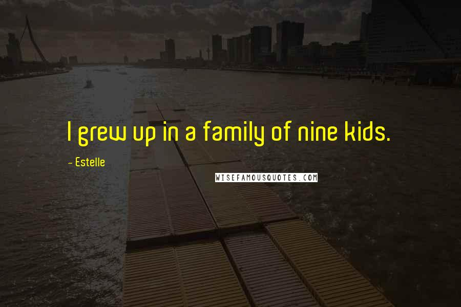 Estelle quotes: I grew up in a family of nine kids.