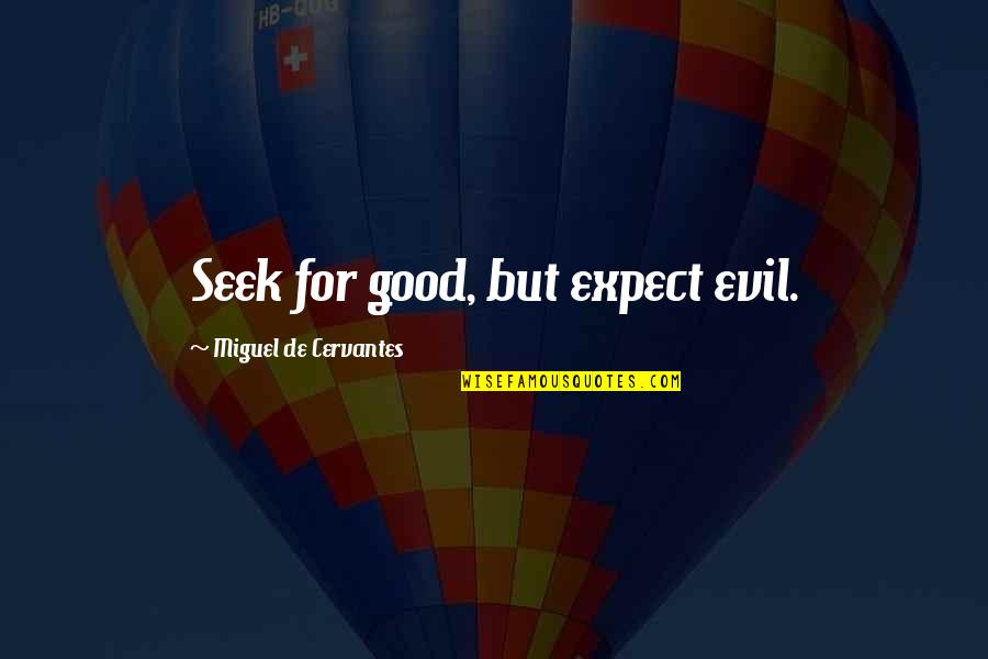 Estilhaar Quotes By Miguel De Cervantes: Seek for good, but expect evil.