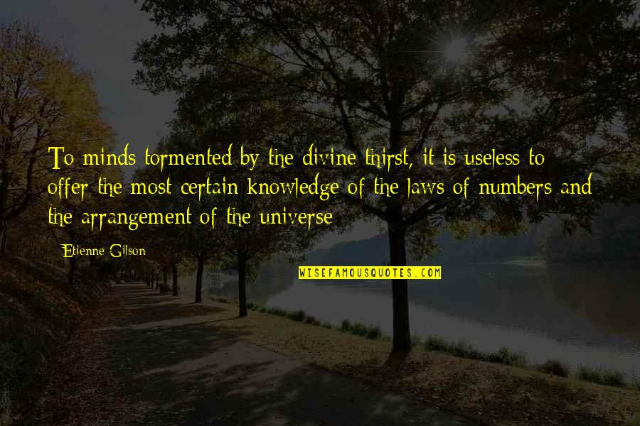 Etienne Gilson Quotes By Etienne Gilson: To minds tormented by the divine thirst, it