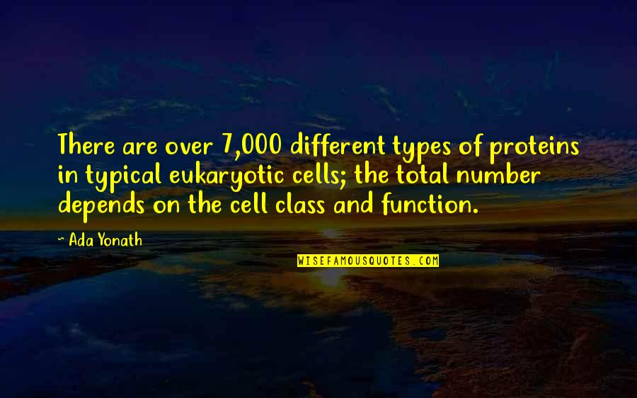 Eukaryotic Quotes By Ada Yonath: There are over 7,000 different types of proteins