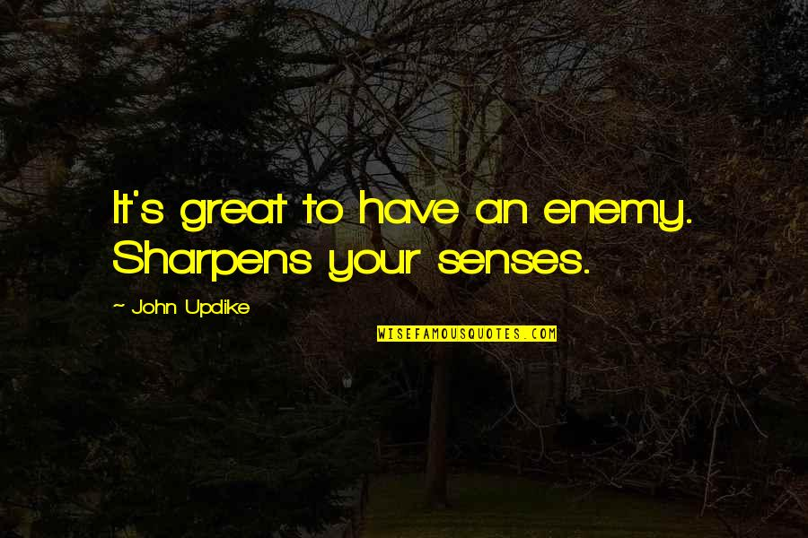 Eunice Harper Higgins Quotes By John Updike: It's great to have an enemy. Sharpens your