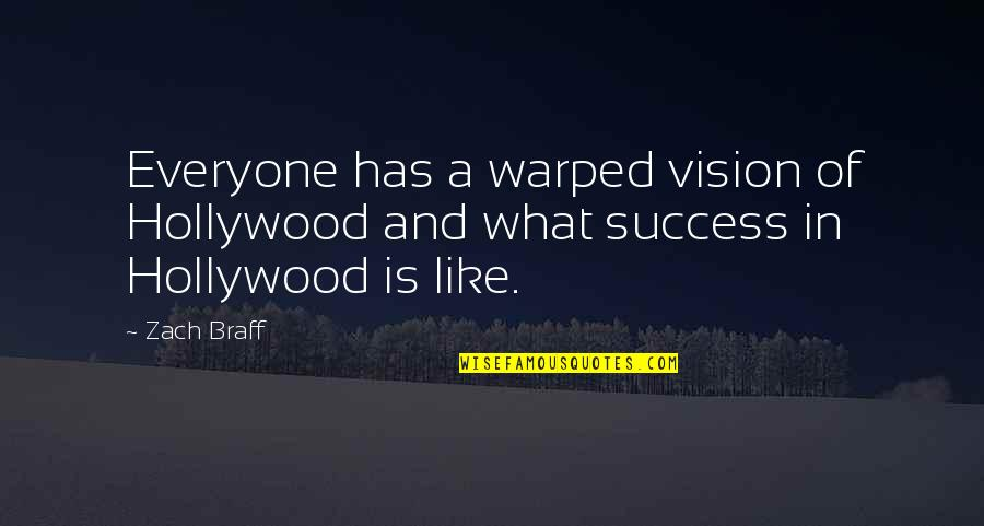 Eunice Harper Higgins Quotes By Zach Braff: Everyone has a warped vision of Hollywood and