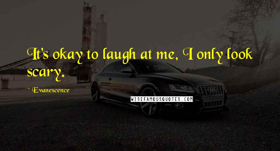 Evanescence quotes: It's okay to laugh at me, I only look scary.
