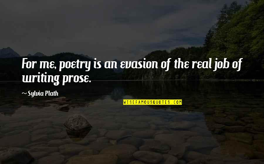 Evasion Quotes By Sylvia Plath: For me, poetry is an evasion of the