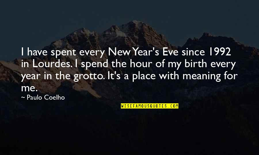 Eve'in Quotes By Paulo Coelho: I have spent every New Year's Eve since