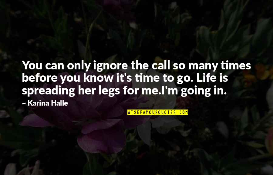 Even If You Ignore Me Quotes By Karina Halle: You can only ignore the call so many