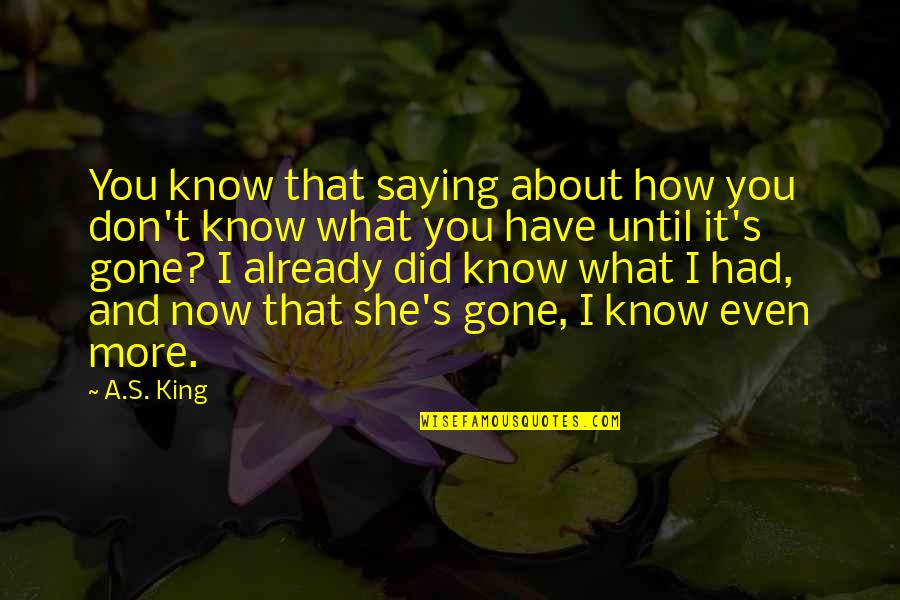 Even Love Quotes By A.S. King: You know that saying about how you don't