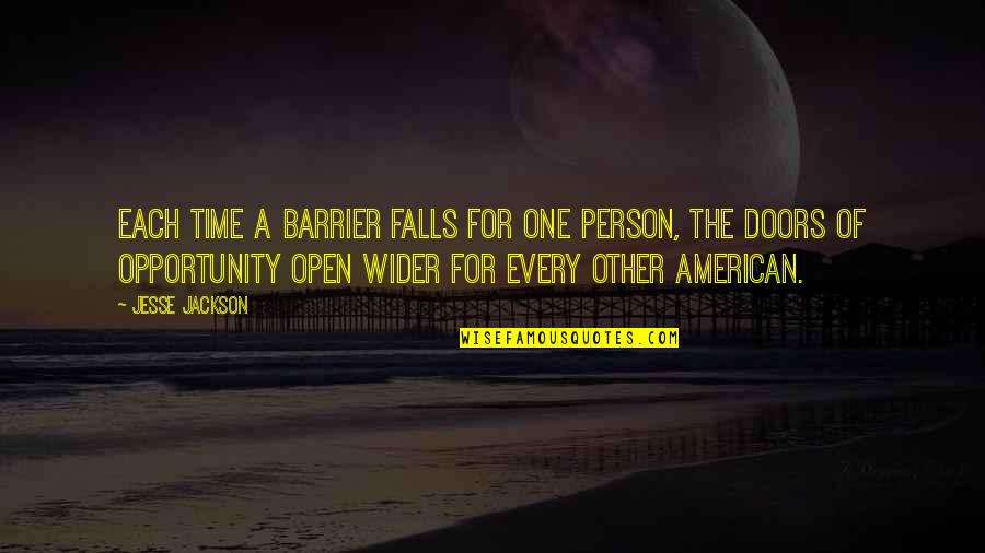 Every Time I Fall Quotes By Jesse Jackson: Each time a barrier falls for one person,