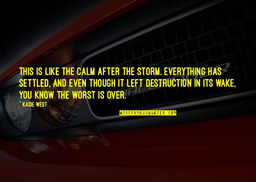 Everything Is Settled Quotes By Kasie West: This is like the calm after the storm.