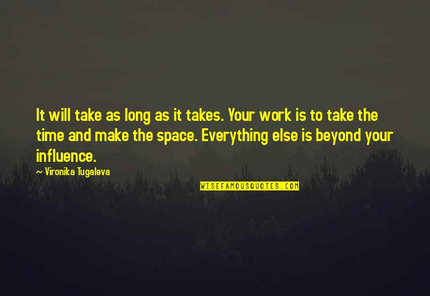 Everything Takes Time Quotes By Vironika Tugaleva: It will take as long as it takes.
