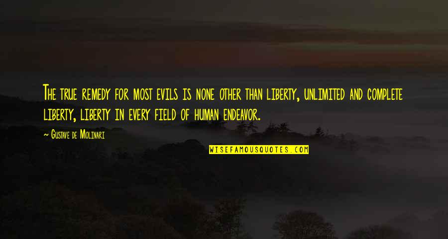 Evil Quotes By Gustave De Molinari: The true remedy for most evils is none