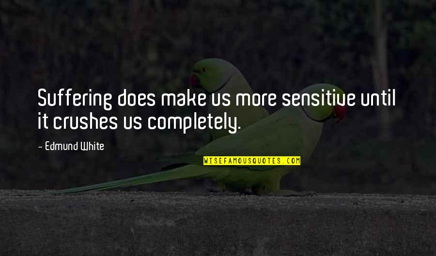 Ex Crushes Quotes By Edmund White: Suffering does make us more sensitive until it