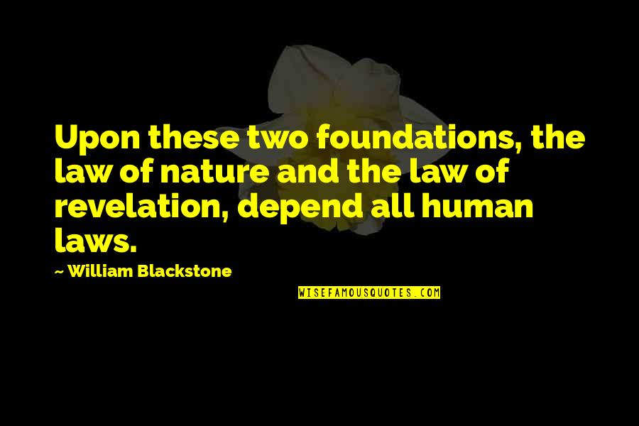 Ex In Laws Quotes By William Blackstone: Upon these two foundations, the law of nature