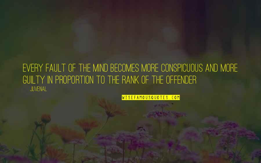 Ex Offender Quotes By Juvenal: Every fault of the mind becomes more conspicuous