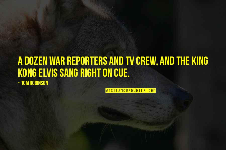 Examples Of Job Quotes By Tom Robinson: A dozen war reporters and TV crew, and