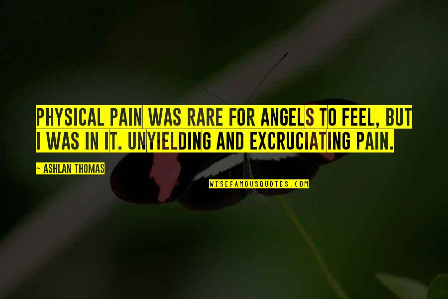 Excruciating Quotes By Ashlan Thomas: Physical pain was rare for angels to feel,