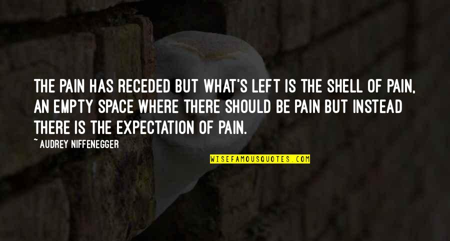 Expectation And Pain Quotes By Audrey Niffenegger: The pain has receded but what's left is