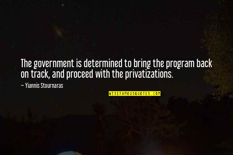Experienc Quotes By Yiannis Stournaras: The government is determined to bring the program
