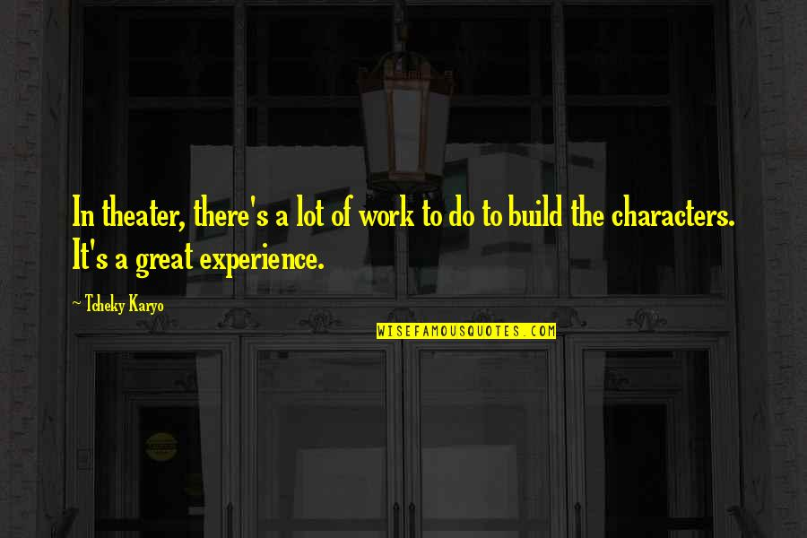 Experience In Work Quotes By Tcheky Karyo: In theater, there's a lot of work to
