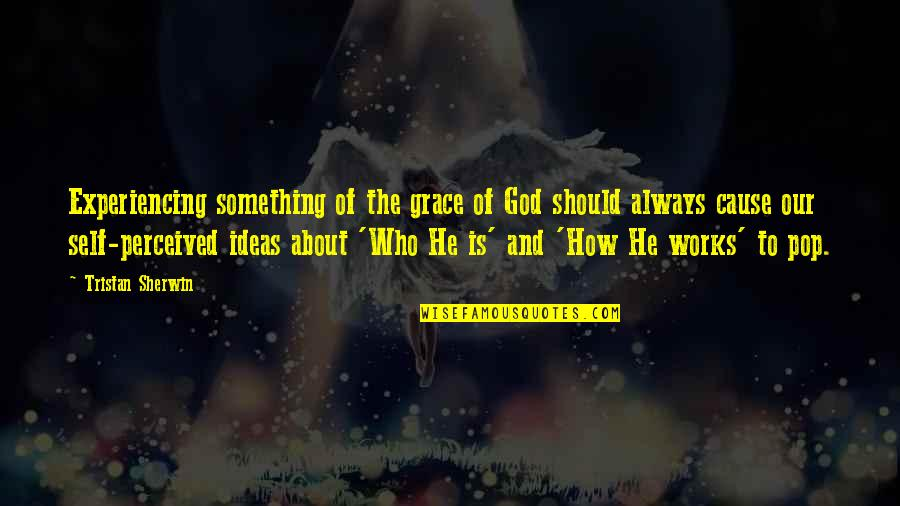 Experiencing God's Love Quotes By Tristan Sherwin: Experiencing something of the grace of God should