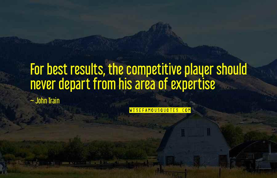 Expertise Quotes By John Train: For best results, the competitive player should never