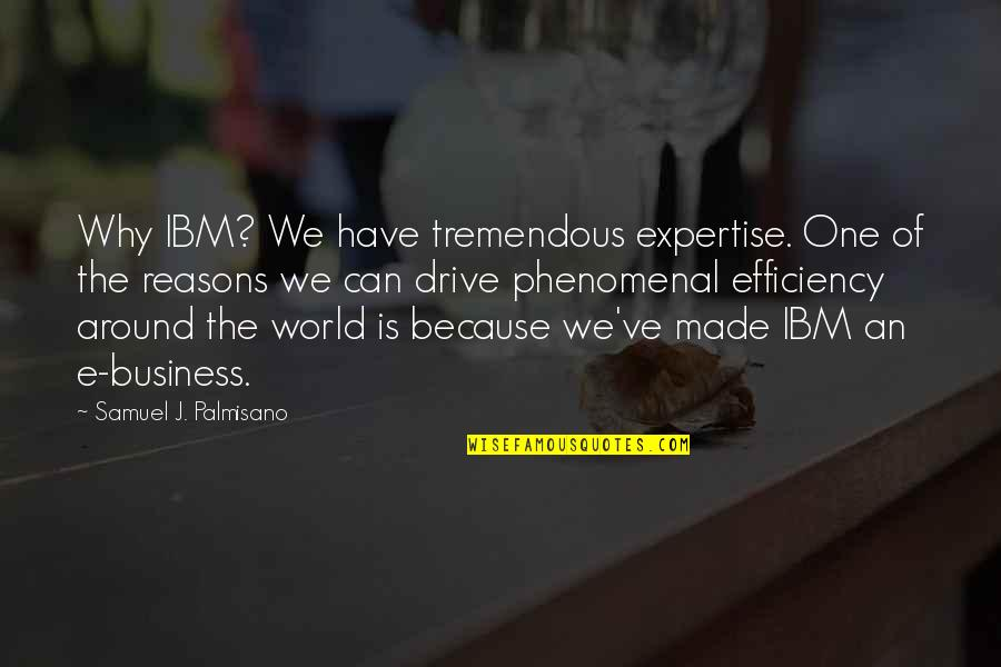 Expertise Quotes By Samuel J. Palmisano: Why IBM? We have tremendous expertise. One of