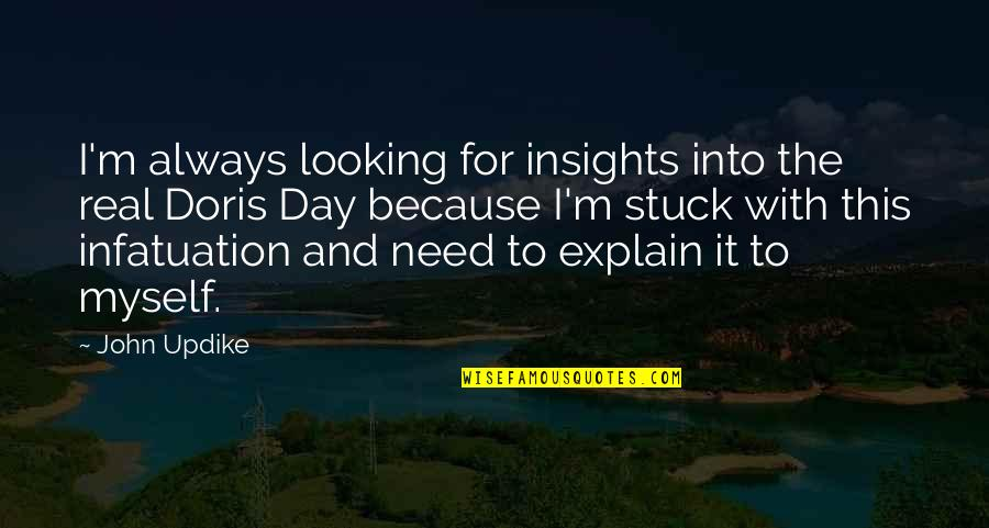 Explain The Quotes By John Updike: I'm always looking for insights into the real