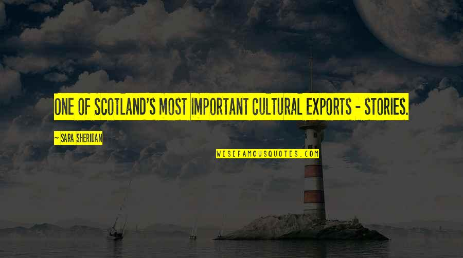 Export-csv No Quotes By Sara Sheridan: One of Scotland's most important cultural exports -