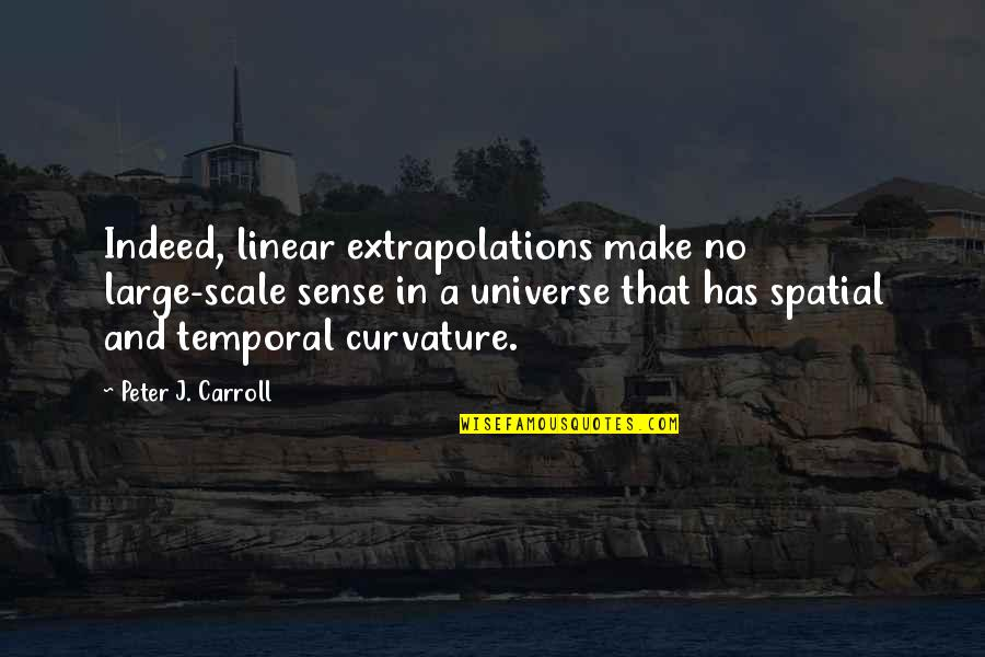 Extrapolations Quotes By Peter J. Carroll: Indeed, linear extrapolations make no large-scale sense in