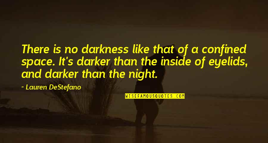 Eyelids Quotes By Lauren DeStefano: There is no darkness like that of a