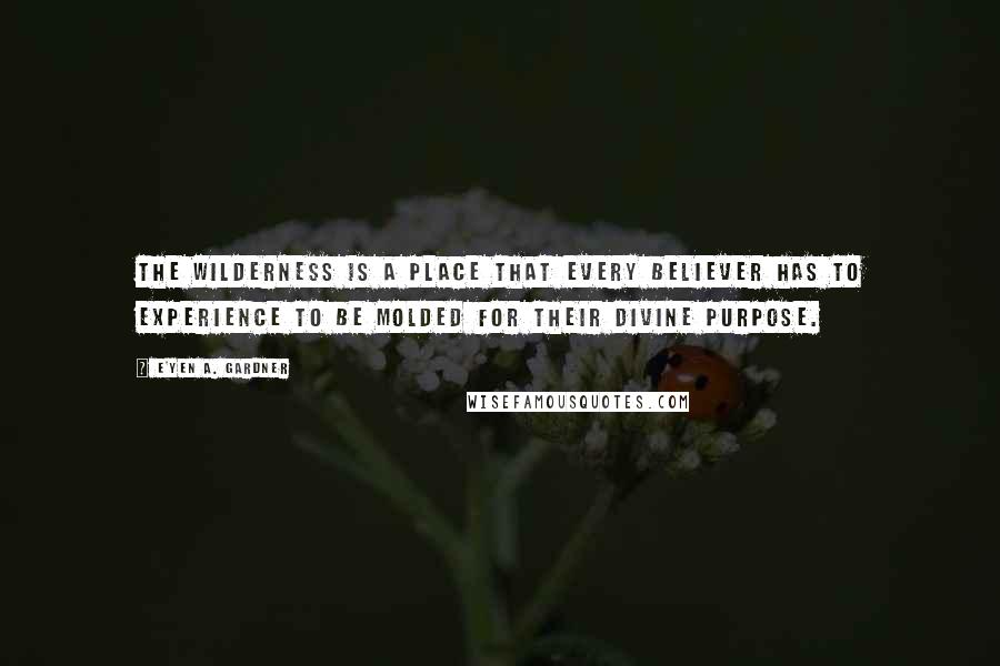 E'yen A. Gardner quotes: The wilderness is a place that every believer has to experience to be molded for their divine purpose.