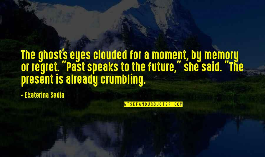 Eyes And Future Quotes By Ekaterina Sedia: The ghost's eyes clouded for a moment, by