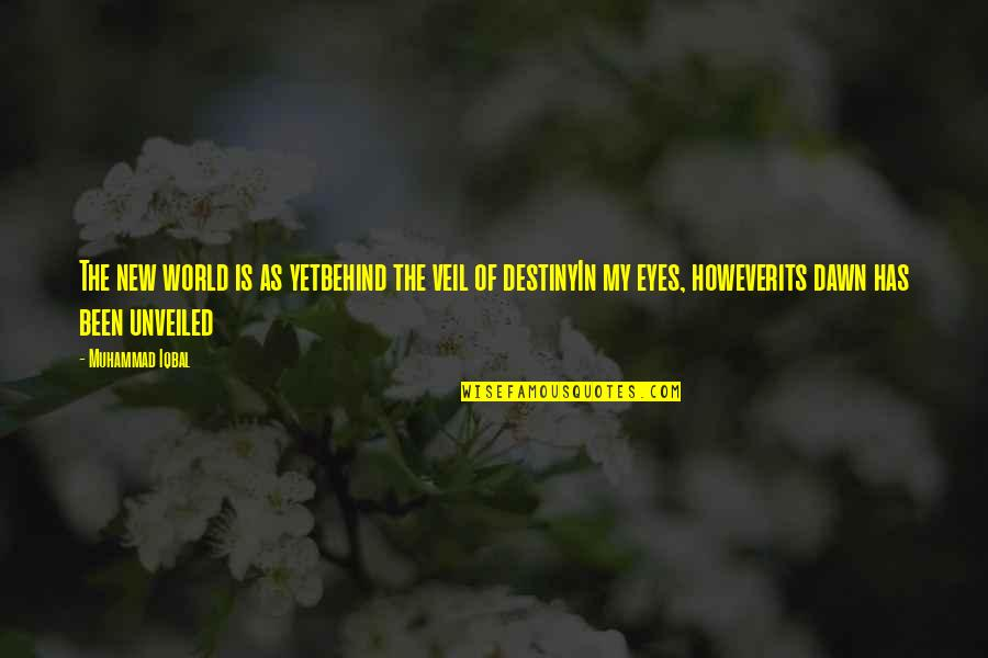 Eyes And Future Quotes By Muhammad Iqbal: The new world is as yetbehind the veil