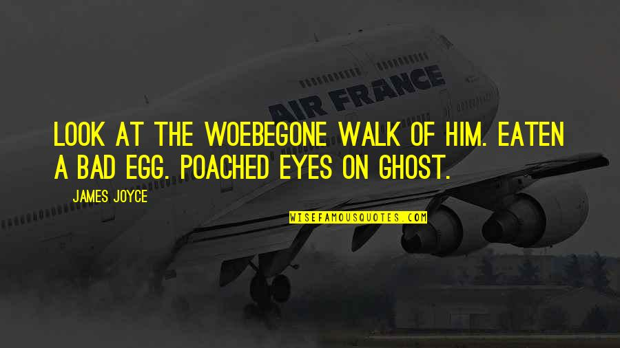 Eyes On Quotes By James Joyce: Look at the woebegone walk of him. Eaten