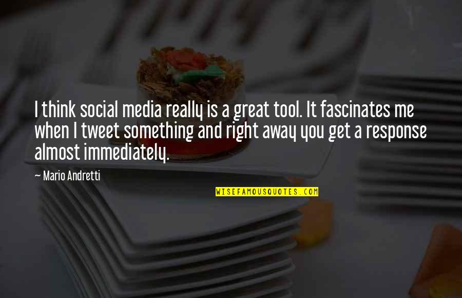 Eyes Telling Stories Quotes By Mario Andretti: I think social media really is a great