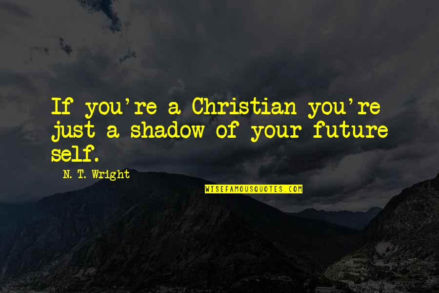 F L Wright Quotes By N. T. Wright: If you're a Christian you're just a shadow